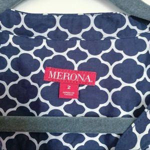 Merona Tops - Merona Navy Button Down Blouse